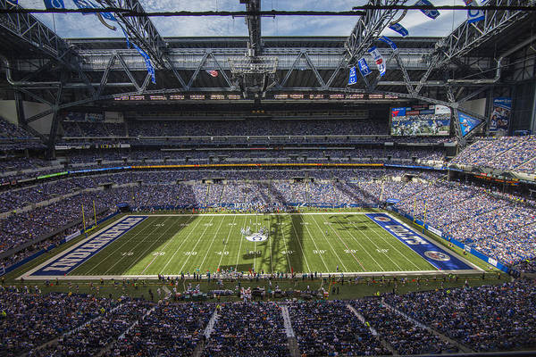 Photograph - Indianapolis Colts Lucas Oil Stadium 3181 by David Haskett II