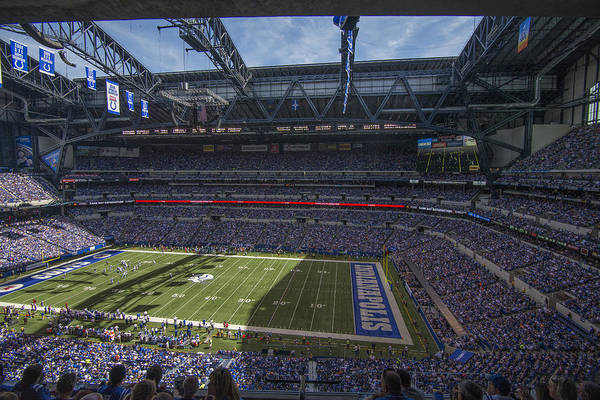 Photograph - Indianapolis Colts Lucas Oil Stadium 3209 by David Haskett II