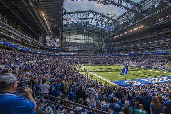 Photograph - Indianapolis Colts Lucas Oil Stadium 3229 by David Haskett II