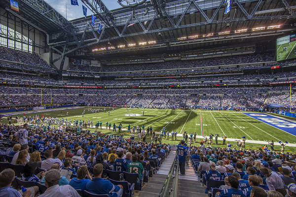 Photograph - Indianapolis Colts Lucas Oil Stadium 3241 by David Haskett II