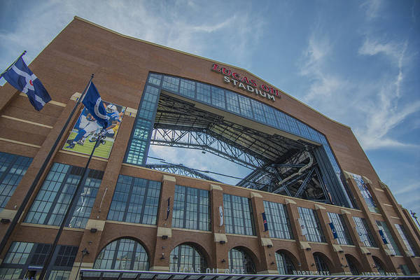 Photograph - Indianapolis Colts Lucas Oil Stadium 3260 by David Haskett II
