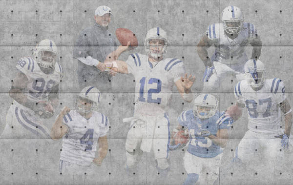 Colt Photograph - Indianapolis Colts Team by Joe Hamilton