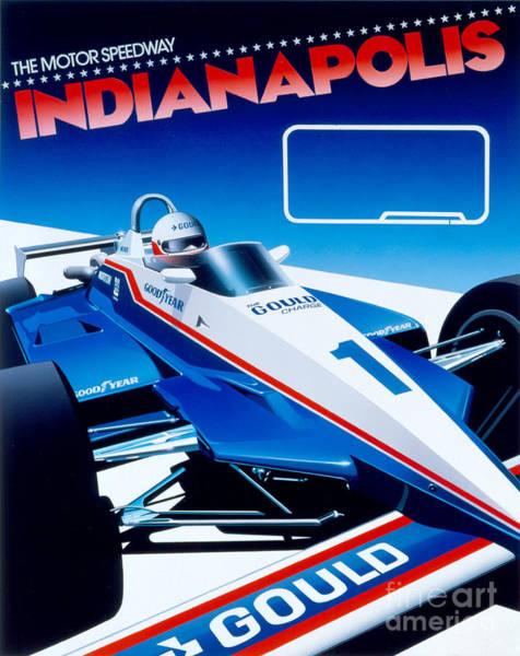 Formula 1 Digital Art - Indianapolis by MGL Meiklejohn Graphics Licensing
