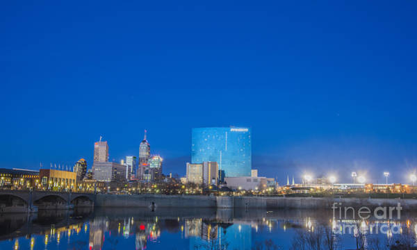 Photograph - Indianapolis Indiana Blue by David Haskett II