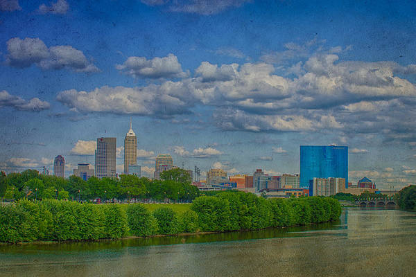Photograph - Indianapolis Indiana Hdr Skyline Texture 9906 by David Haskett II