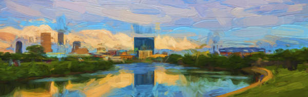Photograph - Indianapolis Indiana Painted Panoramic by David Haskett II