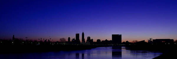 Photograph - Indianapolis Indiana Panoramic Blue Hour Sunrise by David Haskett II