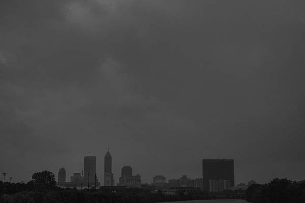 Photograph - Indianapolis Indiana Raining Black White Grain by David Haskett II