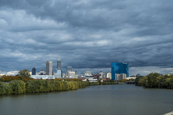 Photograph - Indianapolis Indiana Skyline Fj Storm by David Haskett II
