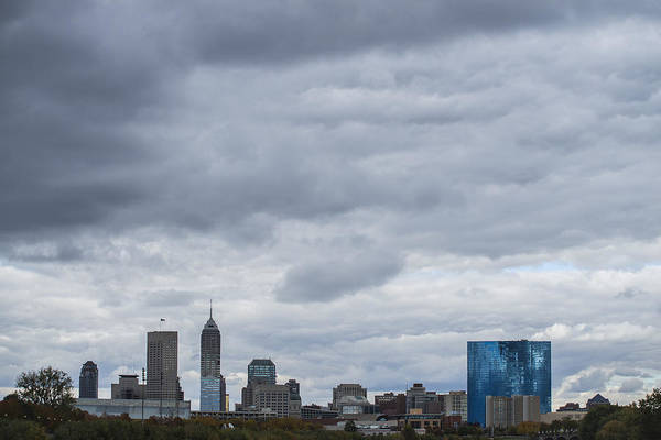 Photograph - Indianapolis Indiana Skyline License  1 by David Haskett II