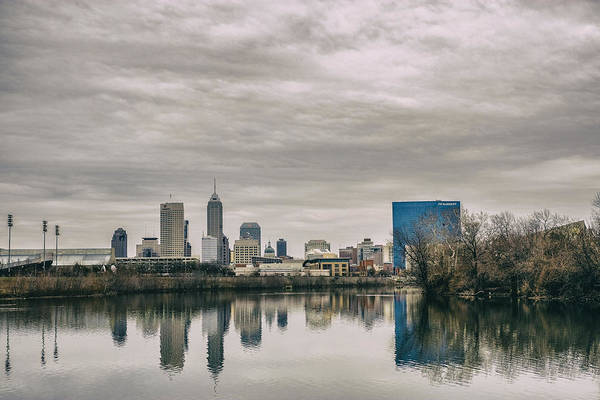 Photograph - Indianapolis Indiana Skyline Storm 700 by David Haskett II