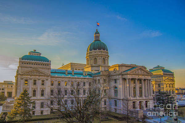 Photograph - Indianapolis Indiana State House by David Haskett II