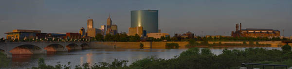 Photograph - Indianapolis Indiana Sunset Panoramic by David Haskett II