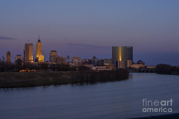 Photograph - Indianapolis Skyline Long Exp 2 by David Haskett II