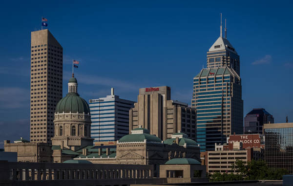 Indianapolis Skyscrapers Art Print