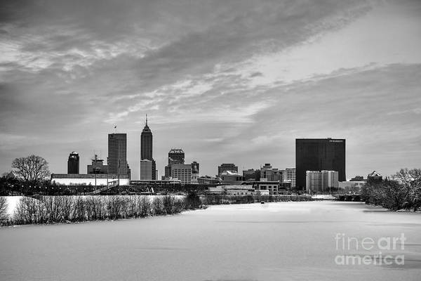 Photograph - Indianapolis Winters Tale Black And White 2014 by David Haskett II