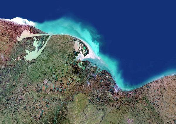River Delta Photograph - Indigirka River Delta by Planetobserver/science Photo Library
