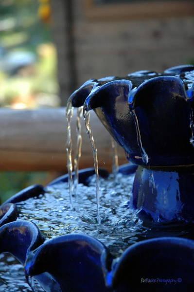 Rader Photograph - Indigo Blue Fountain  by Roe Rader