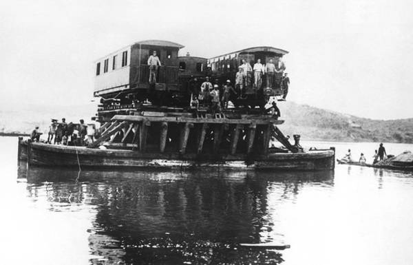 Indochina Photograph - Indochina Train Ferry by Underwood Archives