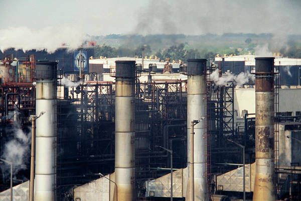 Ensenada Photograph - Industrial Air Pollution by Steve Percival/science Photo Library