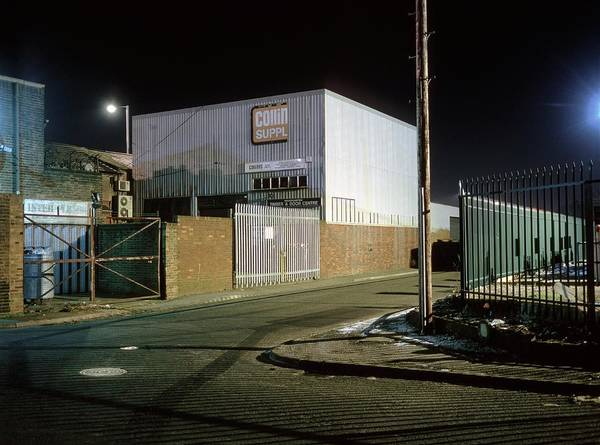 City Centre Photograph - Industrial Estate At Night by Robert Brook/science Photo Library