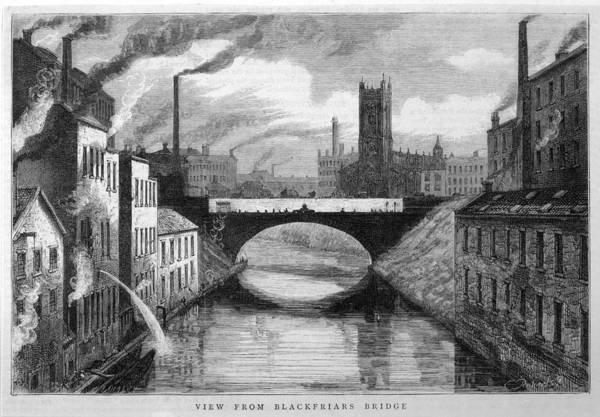 Manchester Drawing - Industrial Manchester, Showing by Mary Evans Picture Library