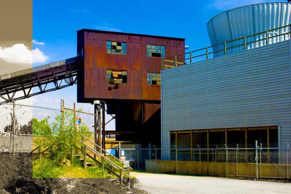 Industrial Power Plant Architectural Landscape Art Print