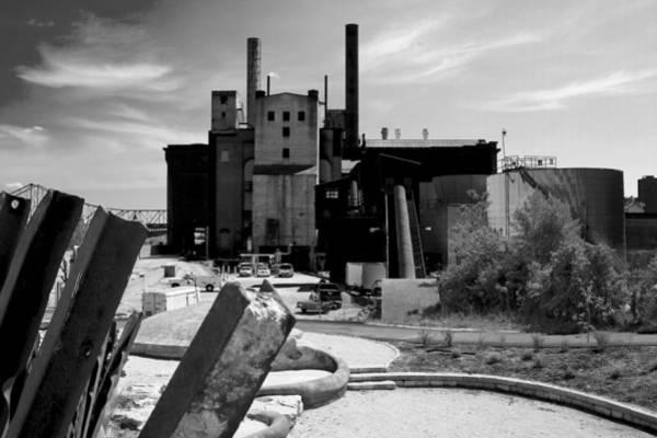 Industrial Power Plant Landscape Smokestacks Art Print