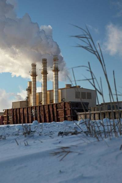 Electricity Generation Photograph - Industrial Power Station by Jim West