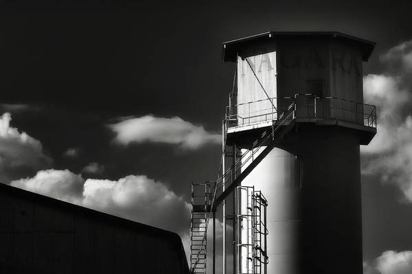 Fiber Photograph - Industrial Silo, Mizuho by Photography By Stephen Cairns