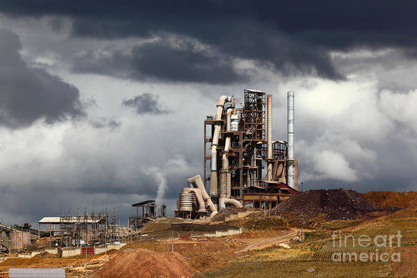 Photograph - Industrial Skies by James Brunker
