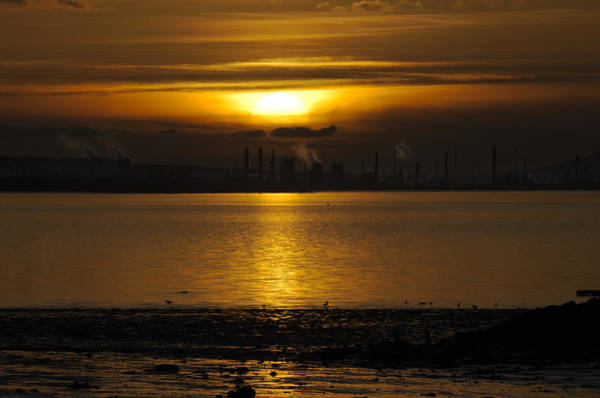 Photograph - Industrial Sunset by Ross G Strachan
