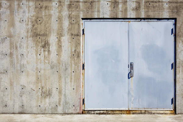 Alfresco Wall Art - Photograph - Industrial Unit Double Doors by Nathan Griffith
