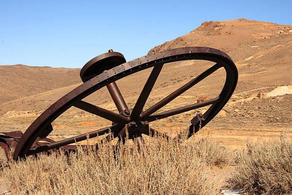 Photograph - Industrial Wheel by Susan Leonard