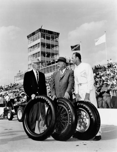 Photograph - Indy 500 Firestone Tires by Underwood Archives