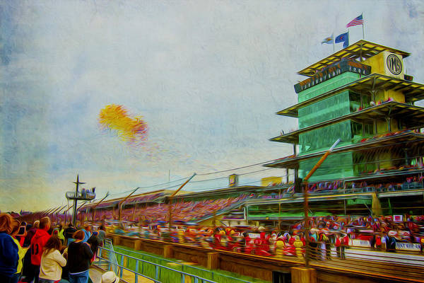 Indy 500 May 2013 Race Day Start Balloons Art Print