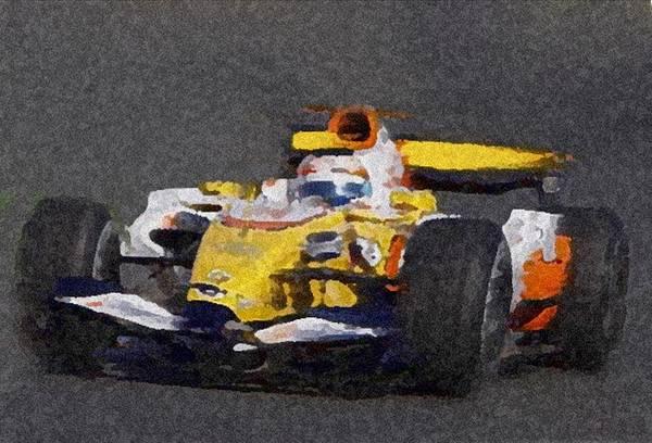 Mixed Media - Indy Car 2 by Dennis Buckman