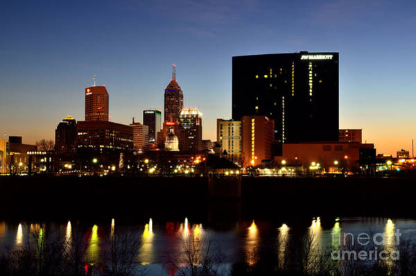 Photograph - Indy Sunrise City by David Haskett II