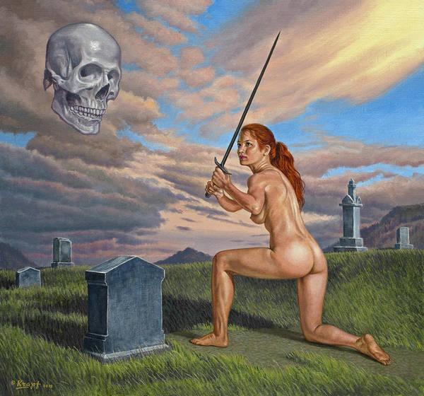 Cemetery Wall Art - Painting - Inevitable Futility by Paul Krapf