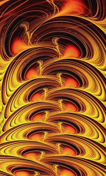 Whirlwind Digital Art - Inferno by Anastasiya Malakhova