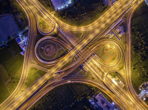 Parking Structure Photograph - Infinity Road by Thanapol Marattana