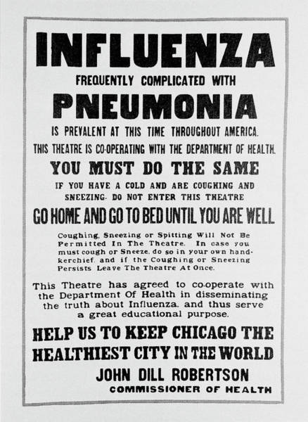 Wall Art - Photograph - Influenza Poster by Science Photo Library