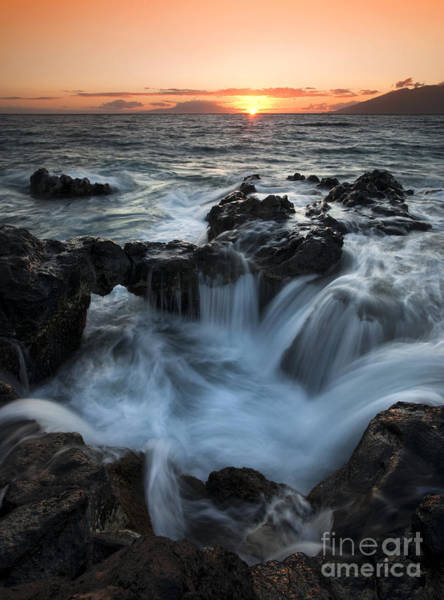 Maui Sunset Photograph - Influx by Mike  Dawson