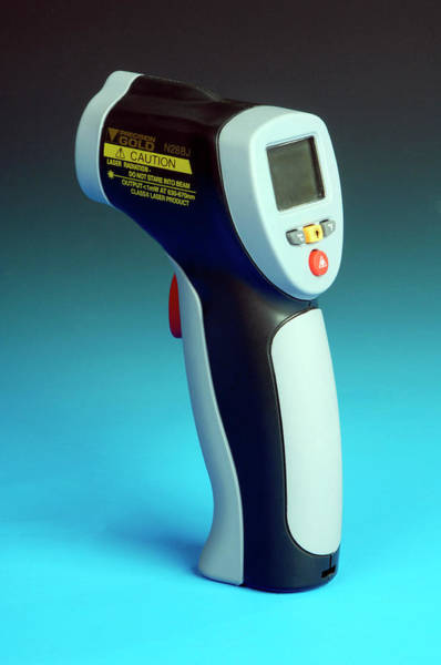 Infrared Radiation Photograph - Infrared Laser Thermometer by Public Health England