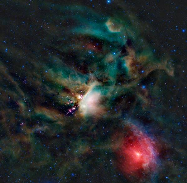 Photograph - Infrared Light View Of Rho Ophiuchi Molecular Cloud  by Celestial Images