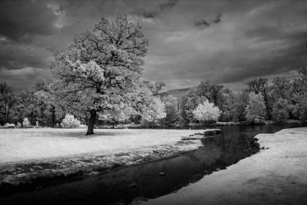Photograph - Infrared Photograph Of The Flat River by Randall Nyhof