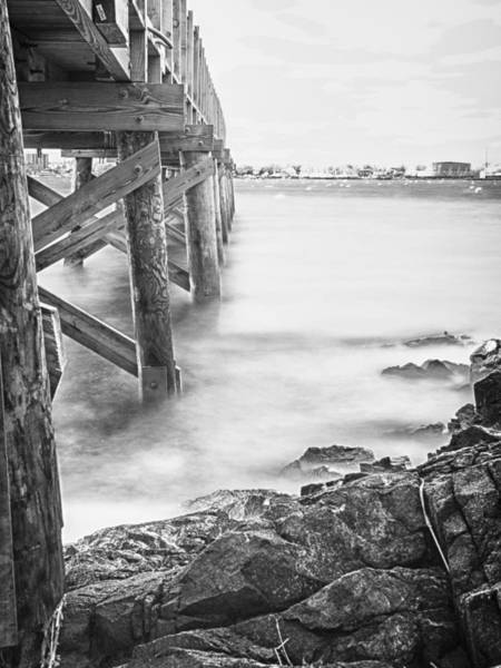 Photograph - Infrared View Of Stormy Waves At Stramsky Wharf by Jeff Folger
