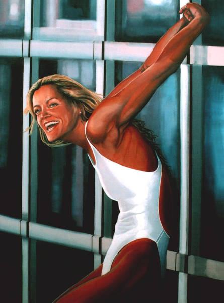 Olympic Sports Painting - Inge De Bruin 2 by Paul Meijering
