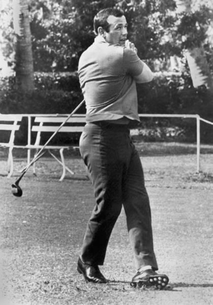 Photograph - Ingemar Johansson Golfing by Underwood Archives