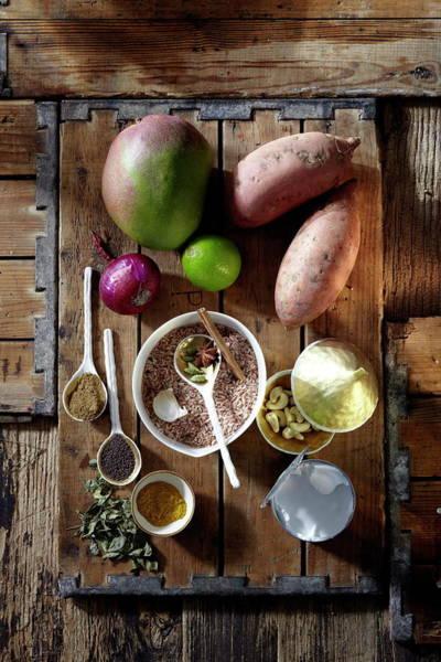 Mangos Photograph - Ingredients For Mango Marsala by Ulrike Holsten